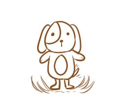 卡通狗狗簡筆畫怎么畫