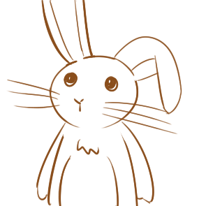 超简单的卡通兔子简笔画步骤图