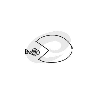 超简单的大鱼吃小鱼简笔画步骤图