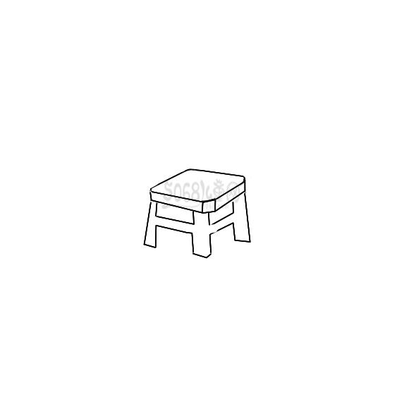 凳子彩色简笔画-画凳子简笔画