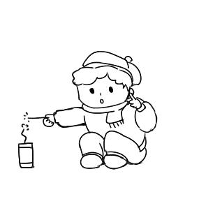 新年放鞭炮简笔画怎么画