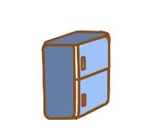 上色的电冰箱简笔画要怎么画