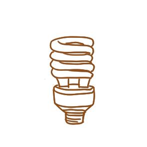 超简单的电灯泡简笔画原创教程步骤