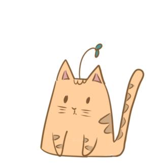卡通可爱橘猫简笔画要怎么画