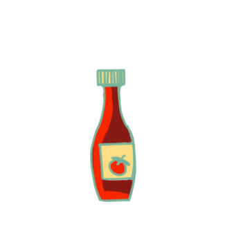 超簡單的番茄醬簡筆畫原創教程步驟