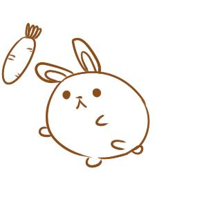 圆滚滚的兔子简笔画怎么画