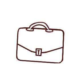 超简单的公文包简笔画教程步骤