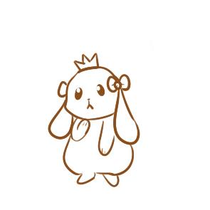 漂亮的卡通兔子简笔画教程