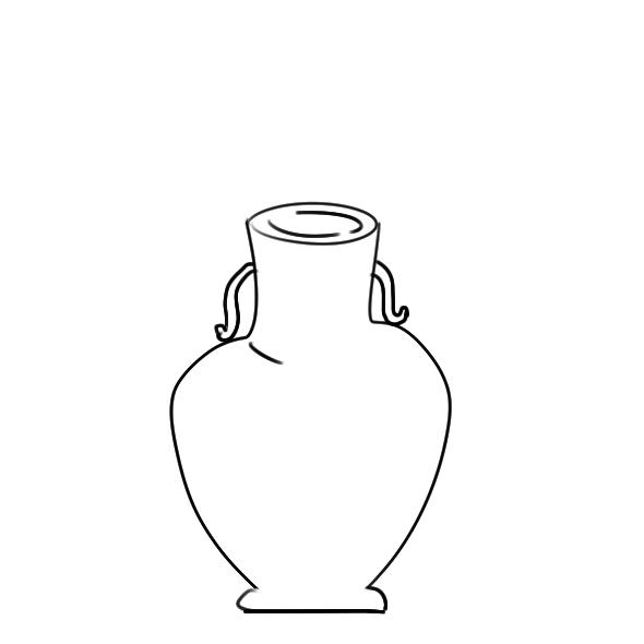 又简单又好看的花瓶简笔画原创教程步骤 5068儿童网