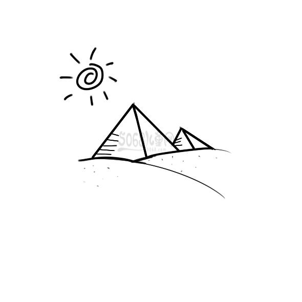 埃及的金字塔要怎么画