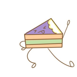 网红彩虹蛋糕简笔画要怎么画