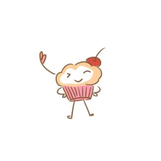 卡通蛋糕小人简笔画要怎么画