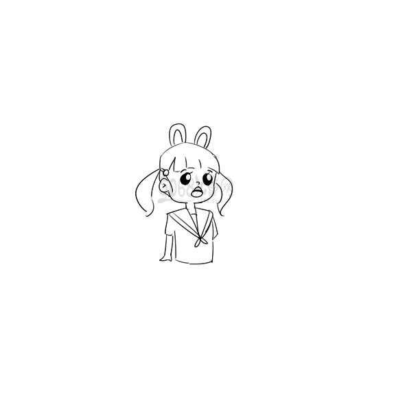 又简单又好看的女孩子简笔画原创教程步骤 5068儿童网