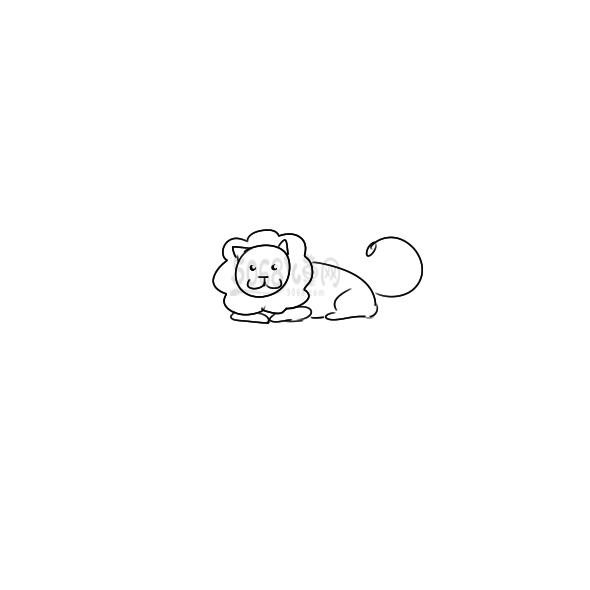 凶萌的大狮子简笔画
