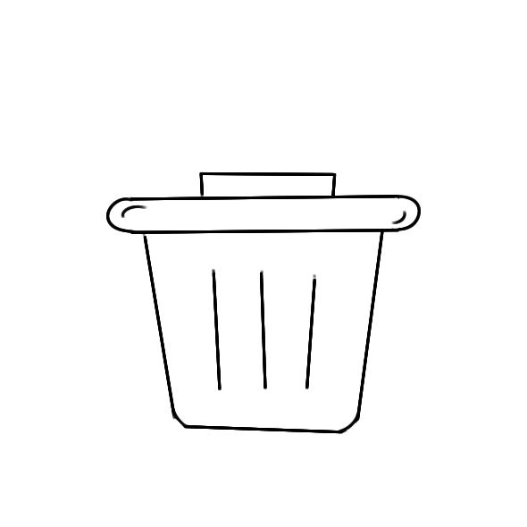 爱护环境的垃圾箱怎么画