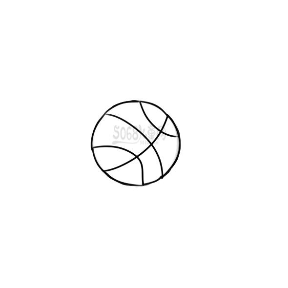 男生打篮球的篮球怎么画
