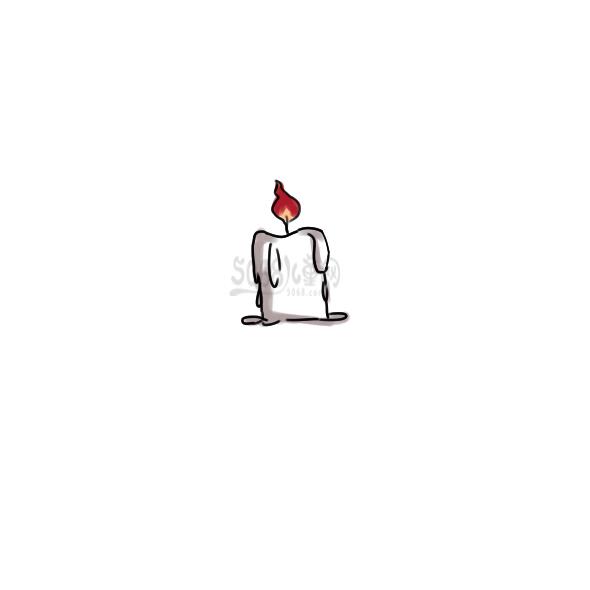 蜡烛简笔画怎么画