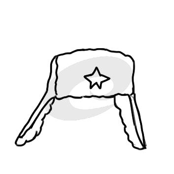 帅气的雷锋帽简笔画要怎么画
