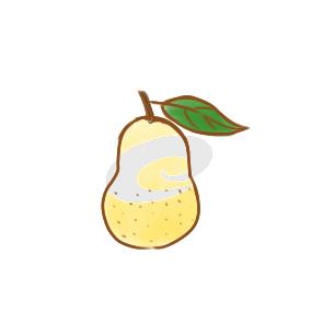 小学生画梨子简笔画步骤图