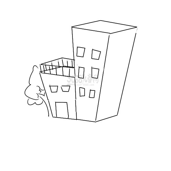 楼房建筑物要怎么画