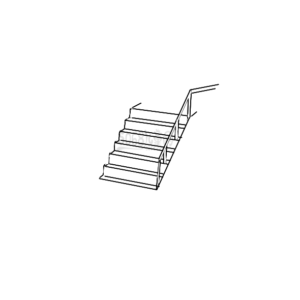 常见的楼梯怎么画