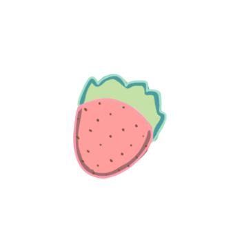 清新的草莓简笔画要怎么画