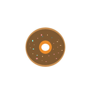 漂亮的甜甜圈简笔画要怎么画