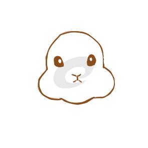 小白兔的简笔画原创教程步骤 5068儿童网
