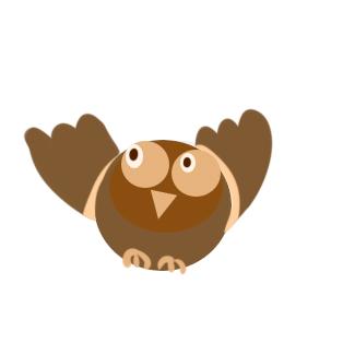 超简单的猫头鹰简笔画原创教程步骤