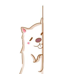 趴在墙上的狗狗简笔画怎么画