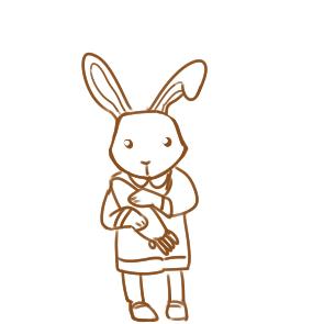 漂亮的兔宝宝简笔画要怎么画