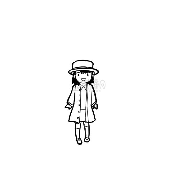 可爱的森系小女生简笔画步骤图
