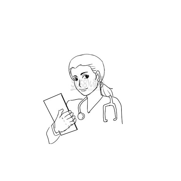 漂亮的女醫生怎么畫
