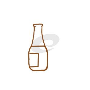 常见的空瓶子简笔画教程步骤