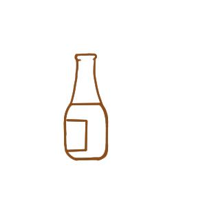 常见的空瓶子的简笔画成品图: