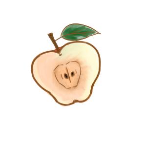 红苹果简笔画原创教程步骤