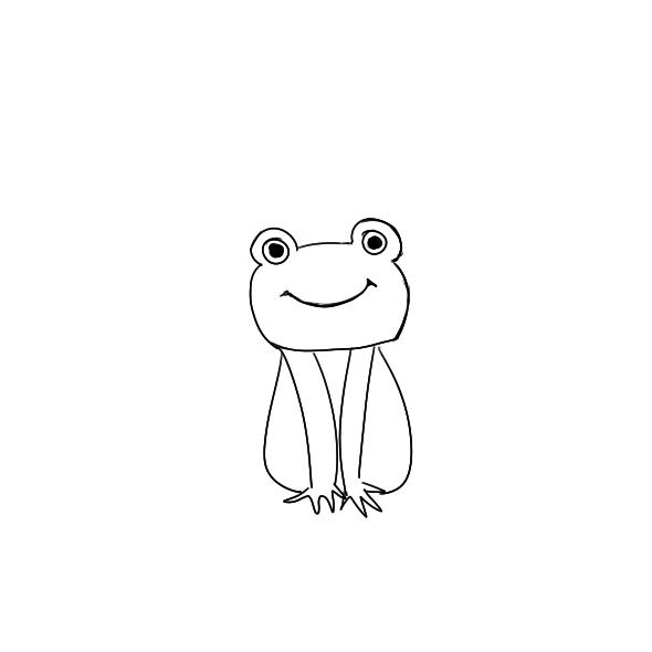 又简单又好看的小青蛙简笔画原创教程步骤 5068儿童网