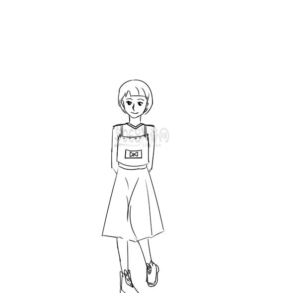 可愛的女孩子簡筆畫手繪教程
