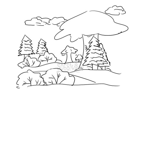 漂亮的森林要怎么画