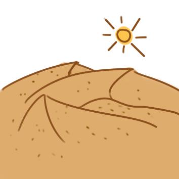熱情的沙漠簡筆畫要怎么畫