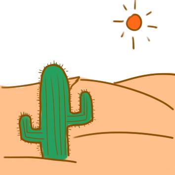 漂亮的沙漠风景简笔画要怎么画