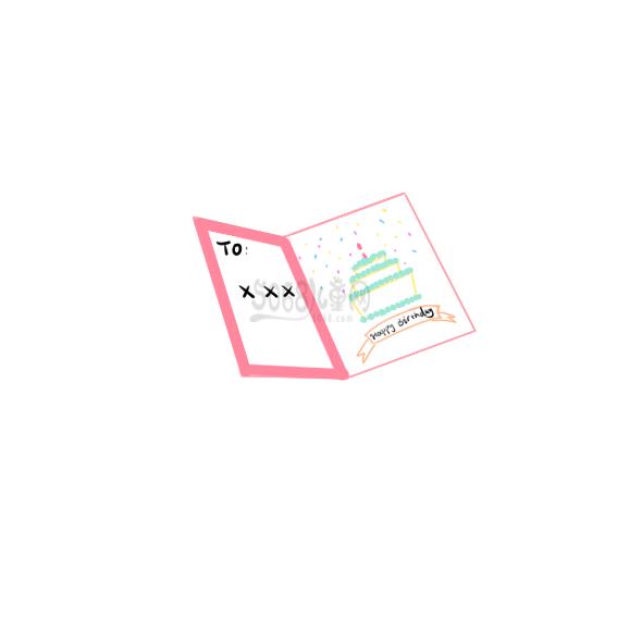 漂亮的生日卡片怎么画
