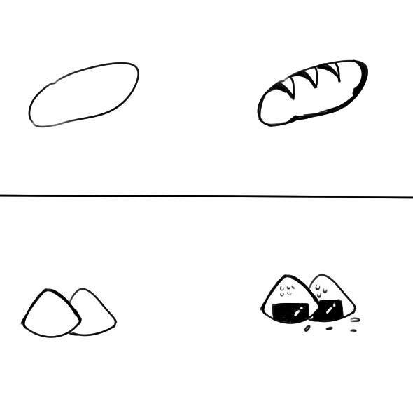 美味食物简笔画怎么画