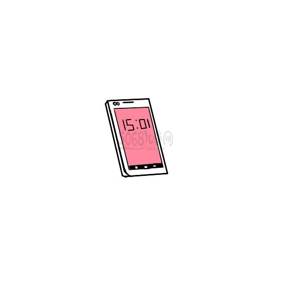 智能手机简笔画手绘步骤图