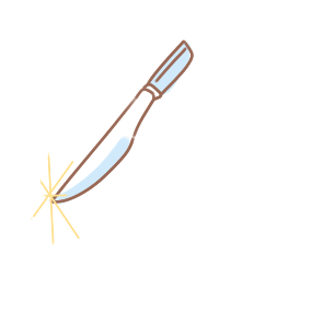 漂亮的手术刀简笔画要怎么画