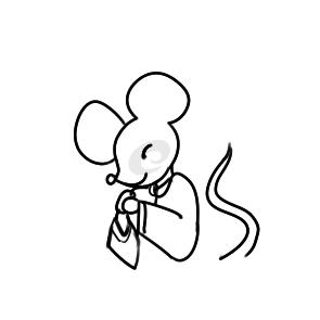 可愛的老鼠拜年簡筆畫怎么畫