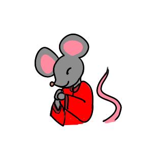 老鼠拜年簡筆畫手繪大全