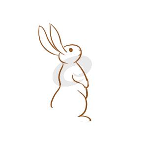 望着月亮的兔子简笔画原创教程步骤 5068儿童网