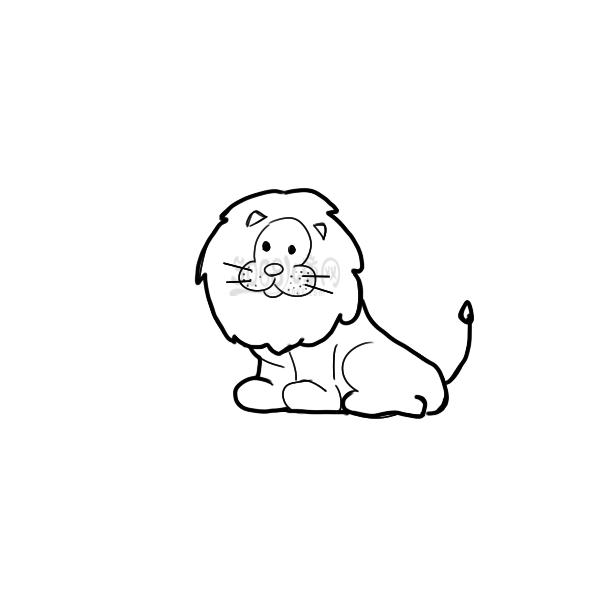 可爱的狮子简笔画怎么画