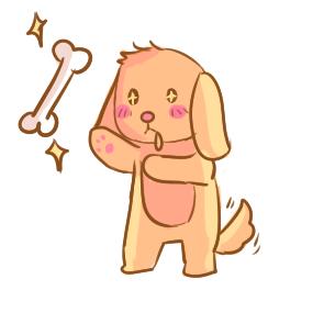 可爱的卡通狗狗简笔画要怎么画